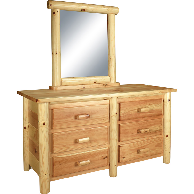 6 drawer dresser 10004 0100d6 rustic pine furniture made for Cheap pine furniture