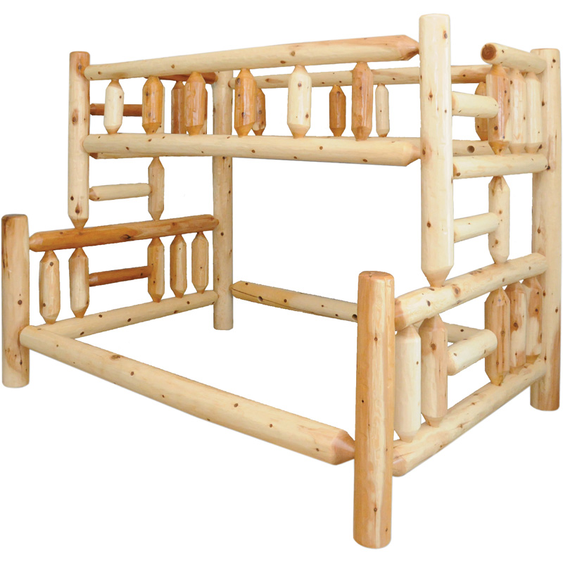 Twin Over Full Bunk Bed 10004 060bb Rustic Pine Furniture Made In