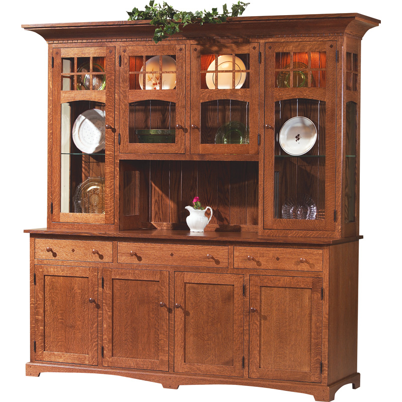 Usa Discount Furniture: 4 Door Hutch And Buffet 2009-03024DHB Royal Santa Fe