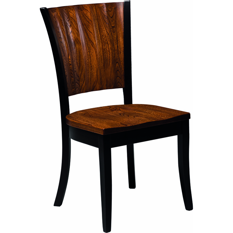Side Chair With Wood Seat 2015 0401sc Rippleback Furniture