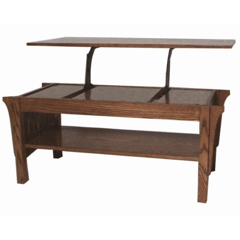 Lift Top Coffee Table 1800 Mission Furniture Made In Usa Builder60 Outlet Discount Furniture