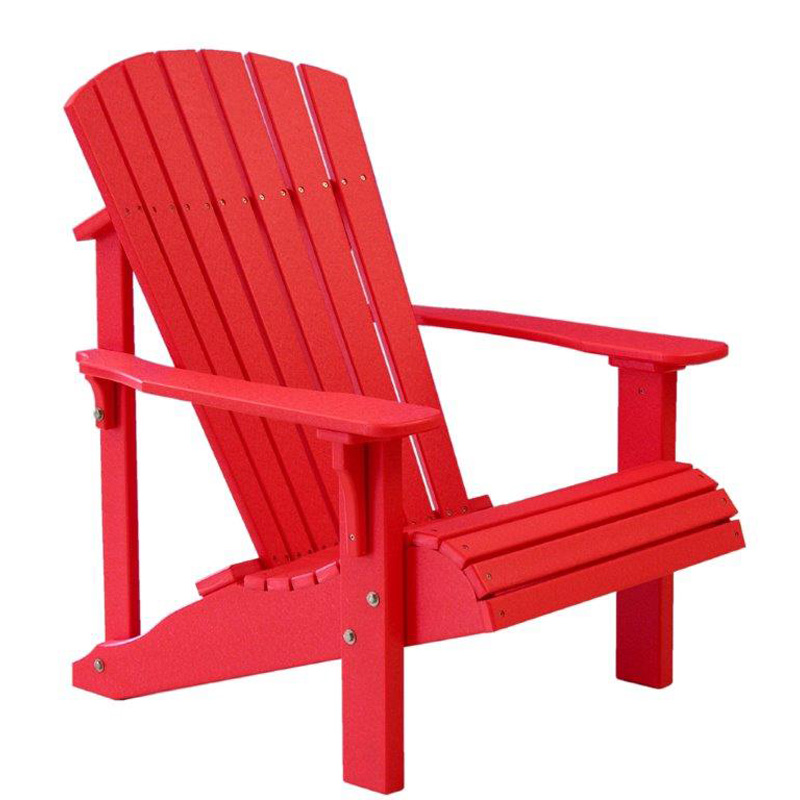 Chair all Red Deluxe Adirondack Furniture Made in USA
