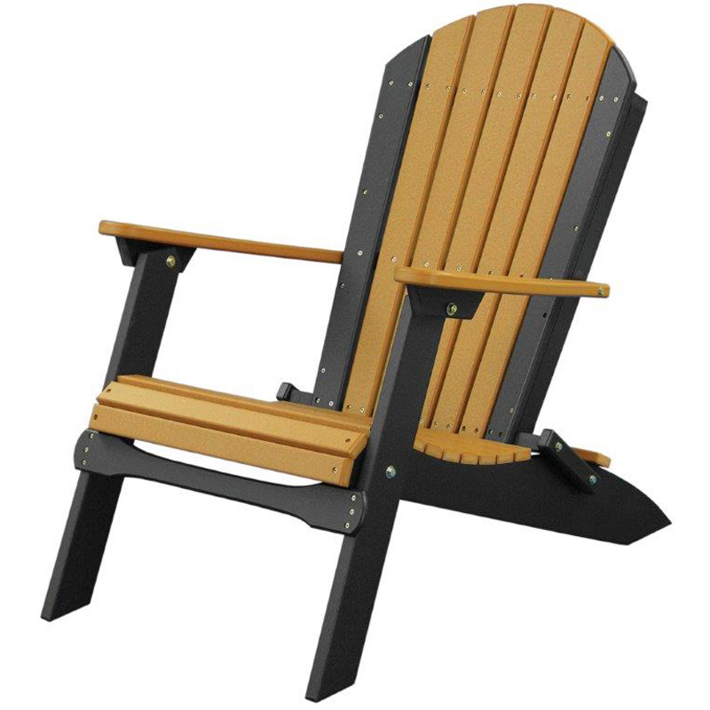 Chair Cedar Black Folding Adirondack Furniture Made In USA Builder76