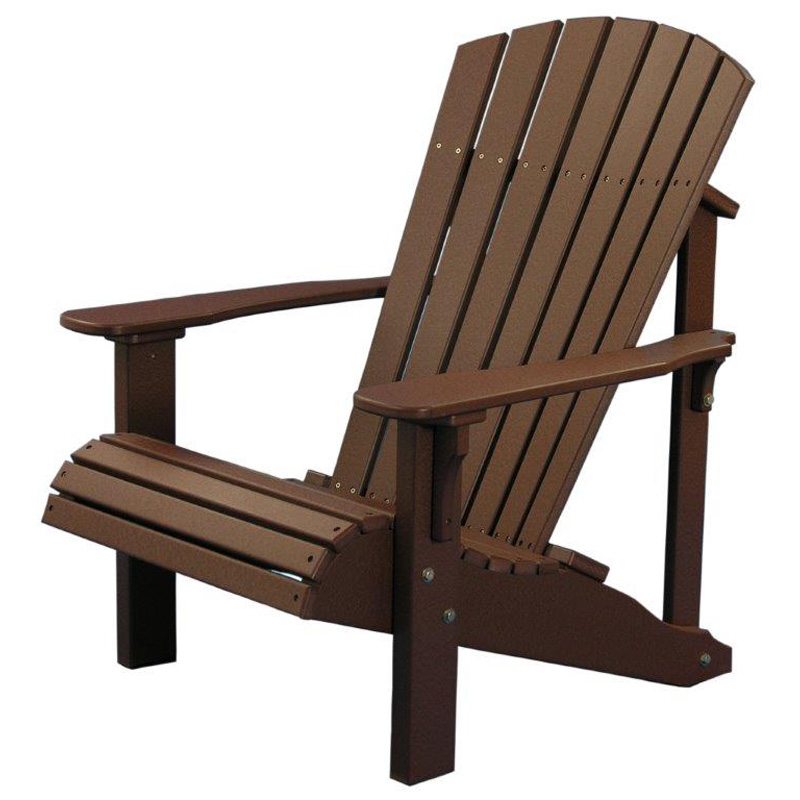 Deluxe Adirondack Chair Chestnut Brown Poly Furniture Made In Usa Builder76  sc 1 st  Amish Oak and Cherry & Deluxe Adirondack Chair Chestnut Brown Poly Furniture Made in USA ...