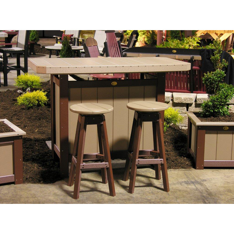 Serving Bar WW And Chestnut Brown Poly Furniture Made In USA Builder76 Outlet