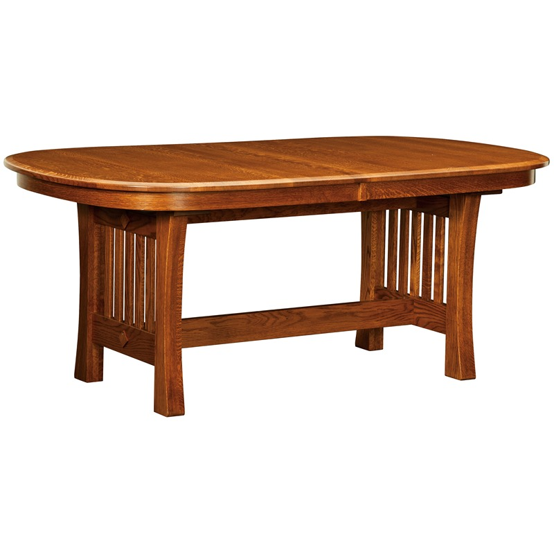 Trestle dining table arts and crafts furniture made in usa for Arts and crafts furniture makers
