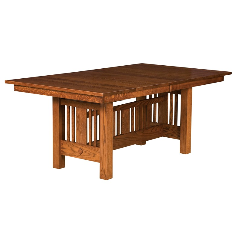 Mission trestle table kingsbury furniture made in usa for Dining room tables knoxville tn