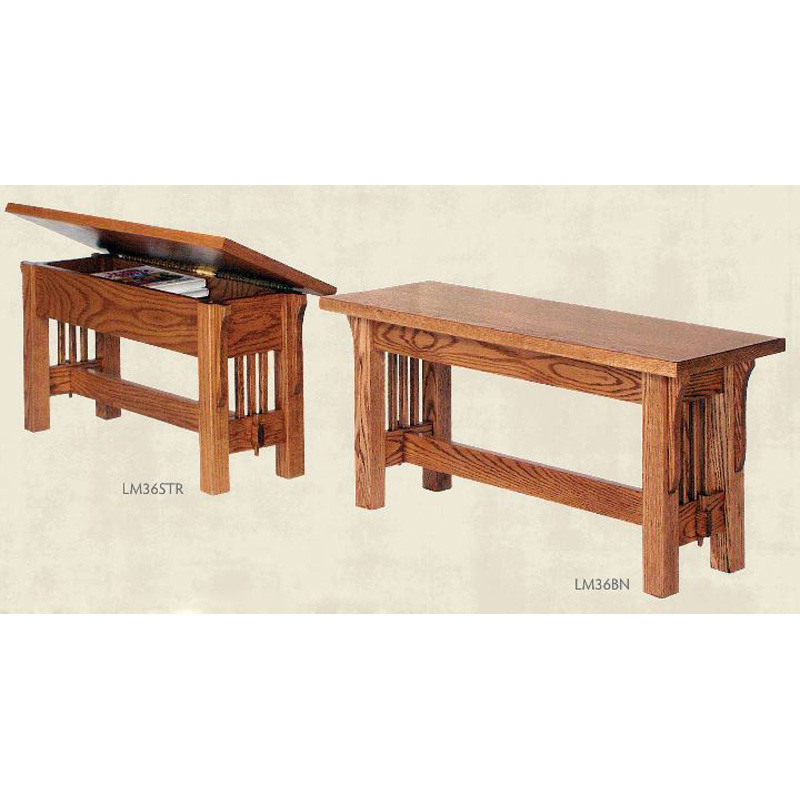 Mission Bench Lm36bn Landmark Furniture Made In Usa Builder84 Outlet Discount Furniture