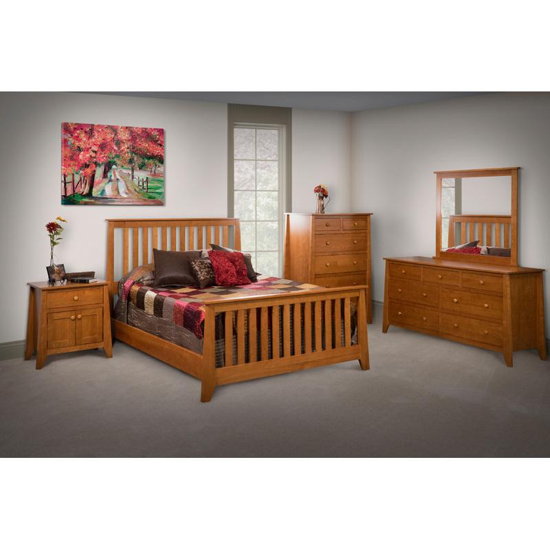 Furniture Made In Usa Builder120 Slat Bed California King