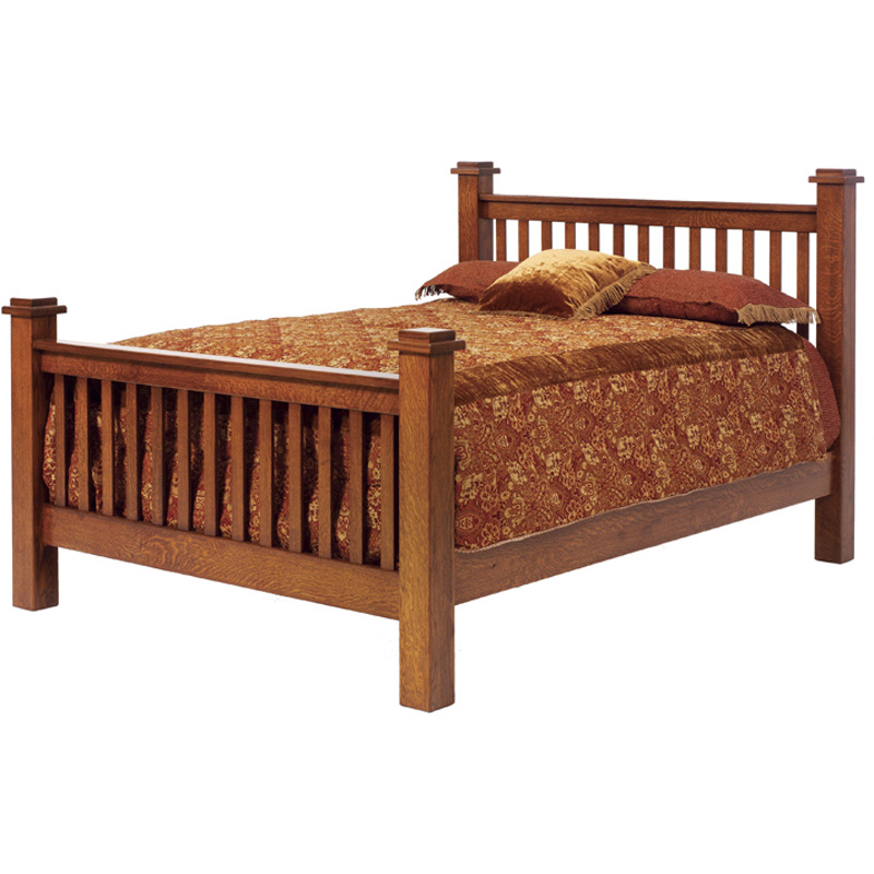 Vintage Mission Bed Oe2021fl Old English Mission Furniture Made In Usa Builder29 Outlet Discount