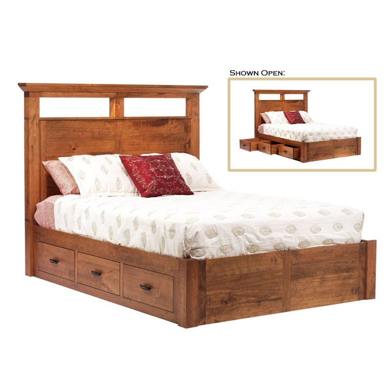 Platform bed rwr565fl redmond wellington furniture made in for American made beds