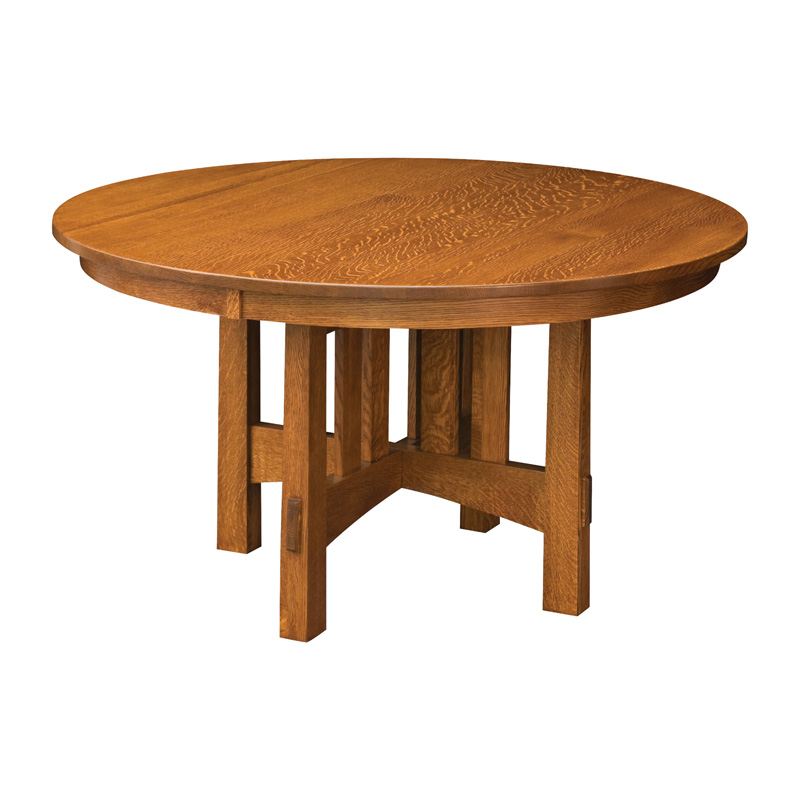 Round Modesto Dining Table Group Furniture Made In USA Builder73